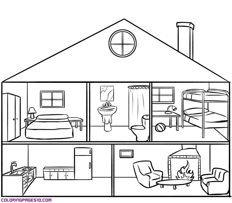 Kindergarten haus clipart png black and white library 1000+ images about Parts of a house on Pinterest | Learn spanish ... png black and white library