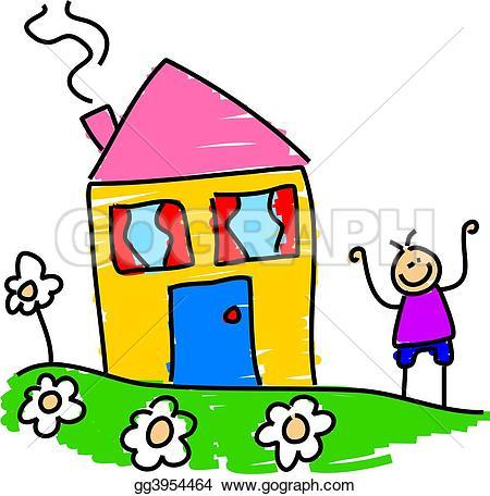 Kindergarten haus clipart jpg royalty free download Boy Flower Stock Illustrations - Royalty Free - GoGraph jpg royalty free download