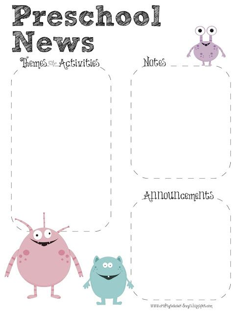 Kindergarten newsletter clipart picture freeuse 17 Best ideas about Preschool Newsletter on Pinterest | Classroom ... picture freeuse