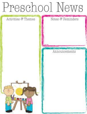 Kindergarten newsletter clipart jpg 17 Best ideas about Preschool Newsletter on Pinterest | Classroom ... jpg