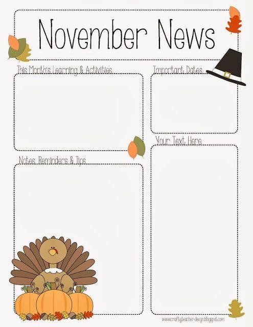 Kindergarten newsletter clipart clip art black and white stock 17 Best ideas about Preschool Newsletter on Pinterest | Classroom ... clip art black and white stock