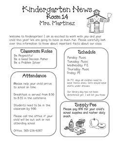 Kindergarten newsletter clipart jpg black and white library Sprinkles to Kindergarten!: Newsletters KINDERGARTEN NEWSLETTER ... jpg black and white library