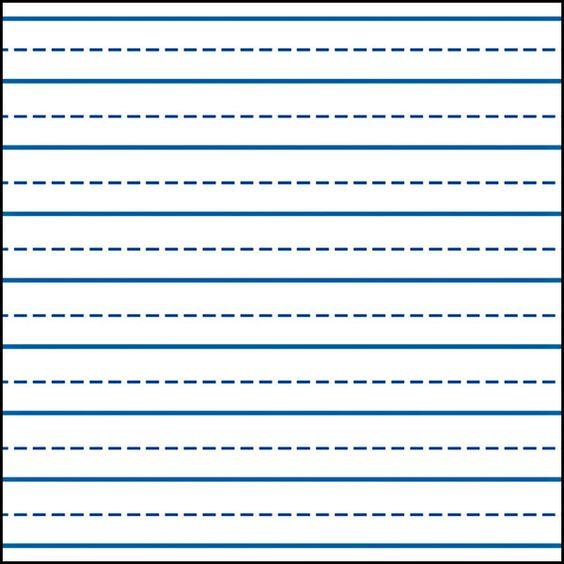 Kindergarten print line clipart jpg freeuse Writing Lines For Kindergarten | Writing Skills - Handwriting ... jpg freeuse
