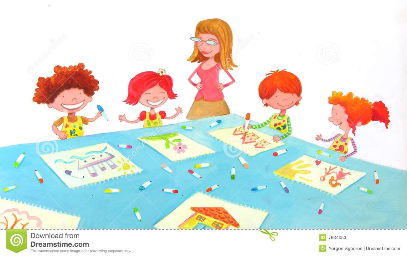 Kindergarten teacher clipart clip art royalty free download Kindergarten Stock Illustrations – 24,885 Kindergarten Stock ... clip art royalty free download