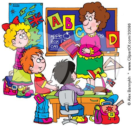 Kindergarten teacher clipart vector free library Kindergarten Students At School Clipart - Clipart Kid vector free library