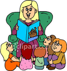 Kindergarten teacher clipart graphic free library Teacher To Students Reading Clipart - Clipart Kid graphic free library