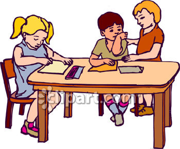 Kindergarten writing clipart banner library library Kindergarten table clipart - ClipartFest banner library library