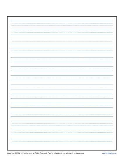 Kindergarten writing paper clipart png library stock Handwriting Lines Template. kindergarten writing lines clipart ... png library stock