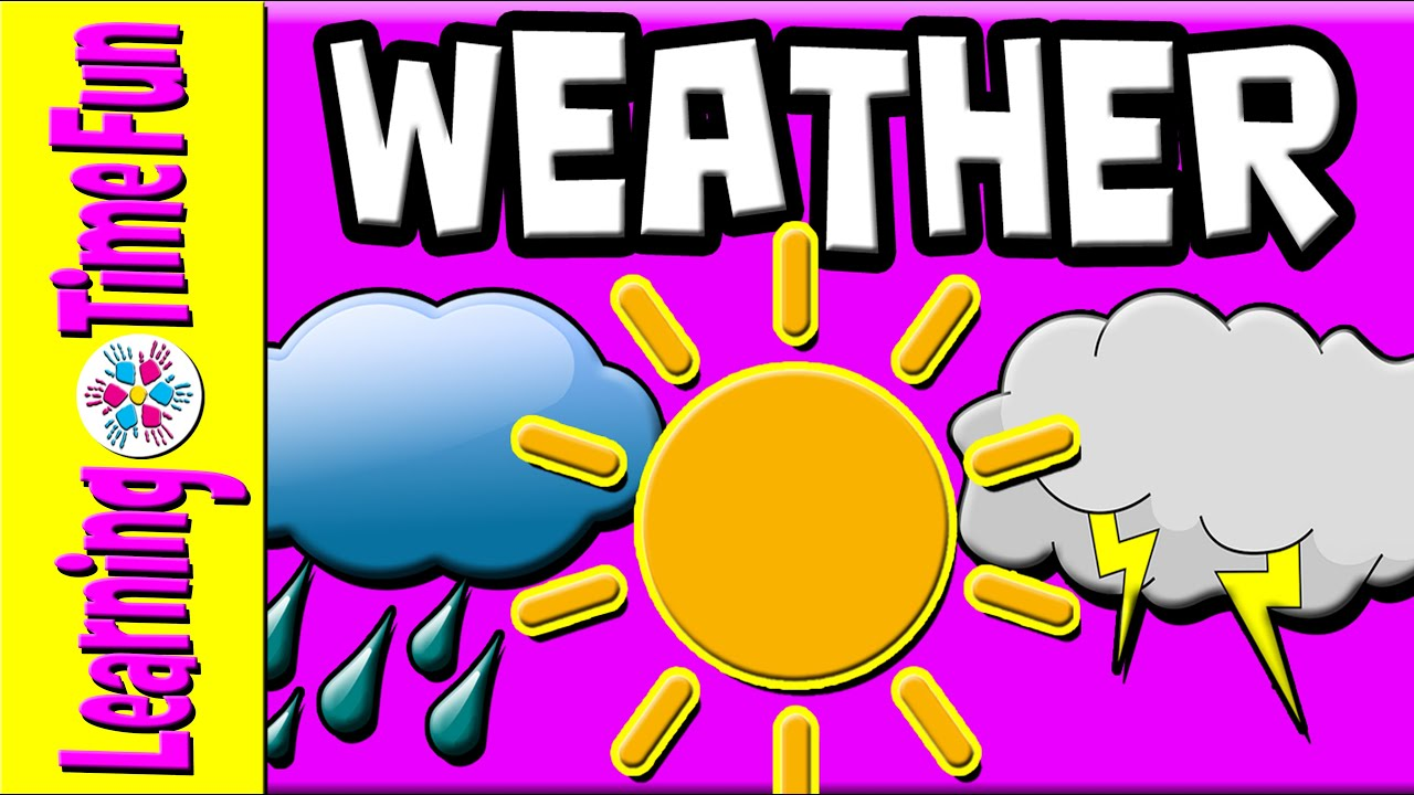 Kinds of weather in the philippines clipart svg black and white download Learn the Weather for Kids | Weather Types | Weather English | Weather |  Weather Children svg black and white download