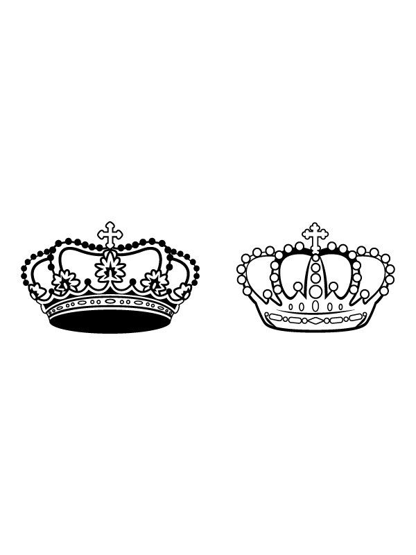 King and queen crown clip art picture black and white King and queen crowns clipart - ClipartFest picture black and white