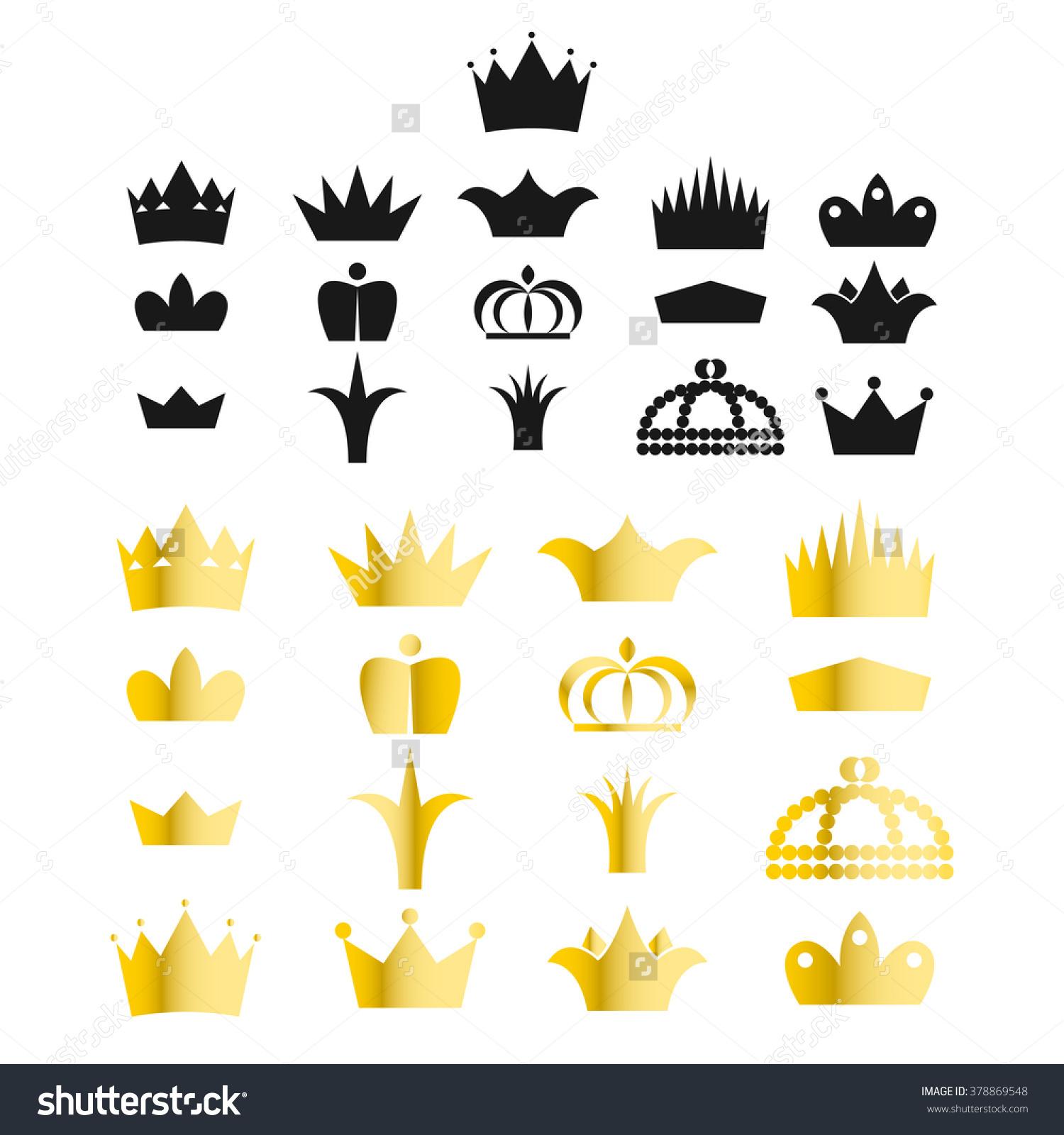 King and queen crown clip art clip art transparent stock Gold Crown Clip Art Vector Set Stock Vector 378869548 - Shutterstock clip art transparent stock