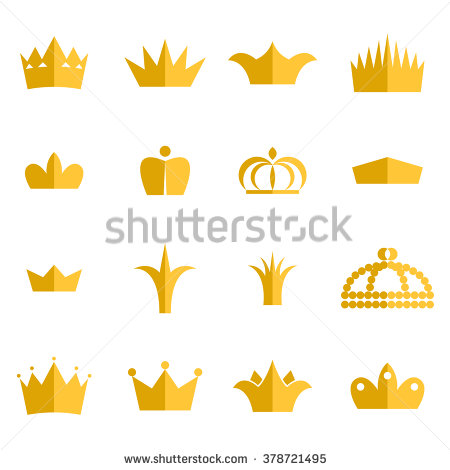 King and queen crown clipart clip free download Gold Crown Clip Art Vector Set Stock Vector 378721495 - Shutterstock clip free download
