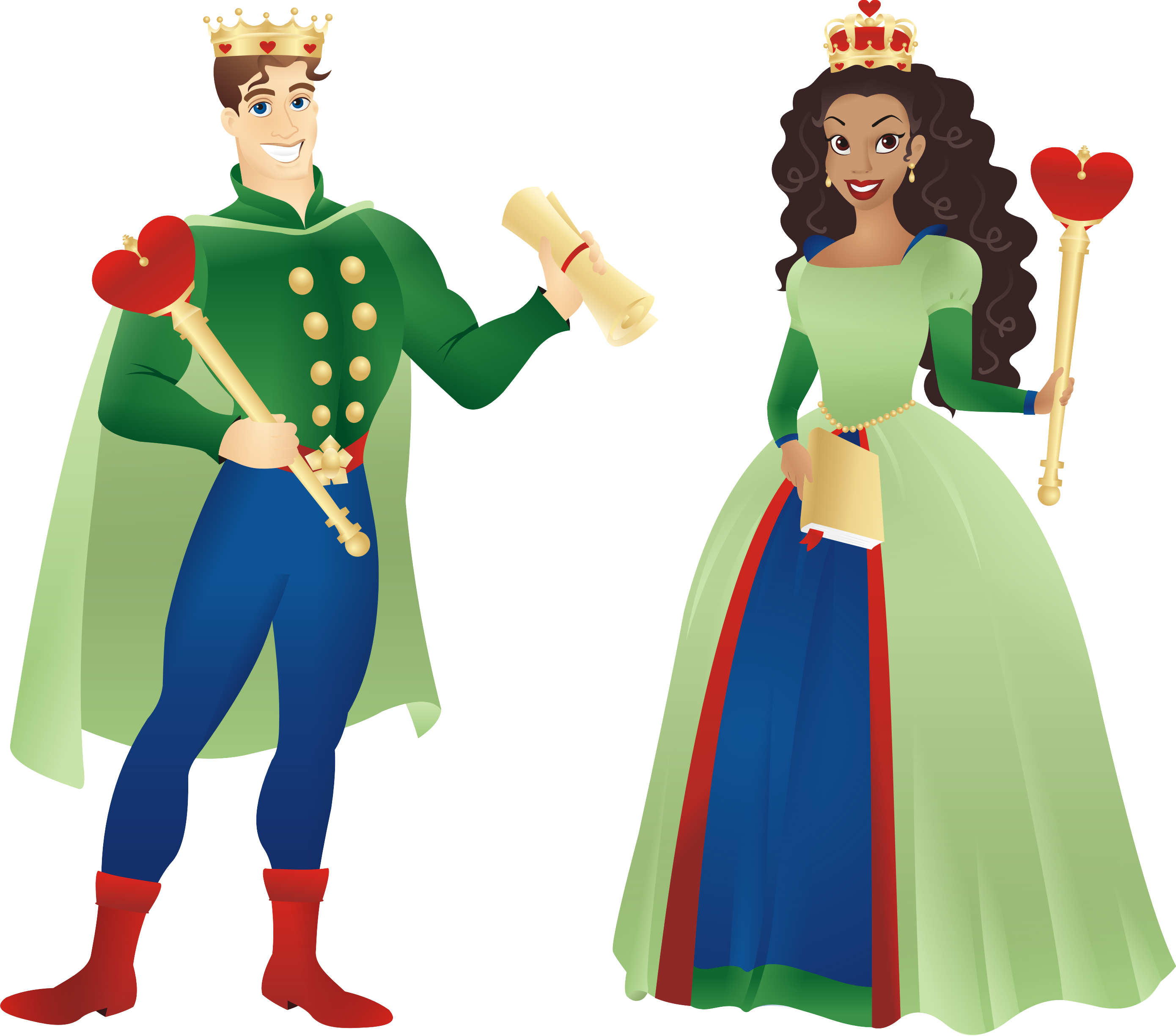 King and queen of hearts clipart graphic black and white King And Queen Clipart & King And Queen Clip Art Images ... graphic black and white