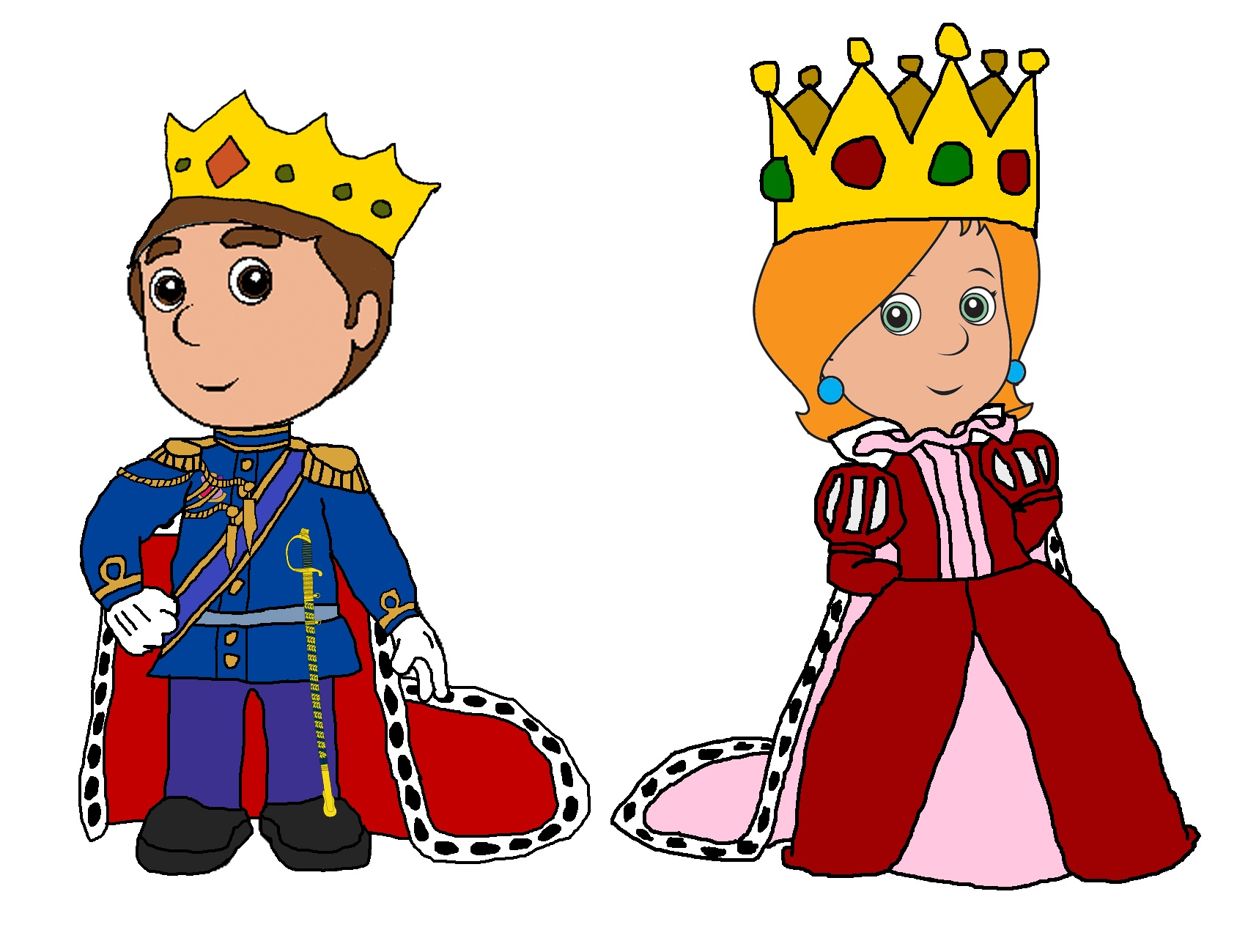 King and queen of hearts clipart image freeuse Medieval king and queen clipart - ClipartFest image freeuse
