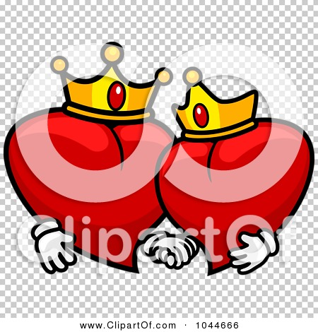 King and queen of hearts clipart banner free Royalty-Free (RF) Clip Art Illustration of King And Queen Hearts ... banner free
