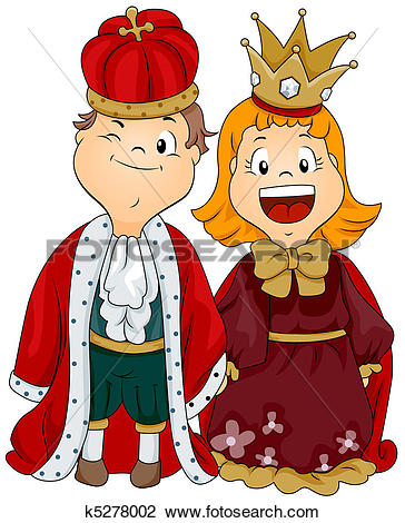 King and queen of hearts clipart png free library Stock Illustrations of King, queen, k6192270 - Search Clipart ... png free library