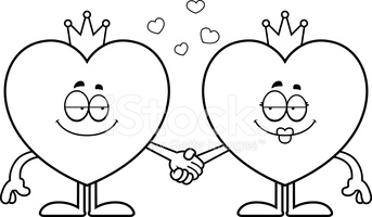 King and queen of hearts clipart clipart transparent library Cartoon King and Queen of Hearts stock vectors - Clipart.me clipart transparent library
