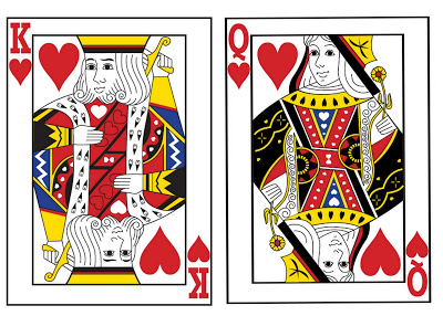 King and queen of hearts clipart image black and white library King and queen of hearts clipart - ClipartFest image black and white library