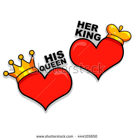 King and queen of hearts clipart transparent library King And Queen Stock Images, Royalty-Free Images & Vectors ... transparent library