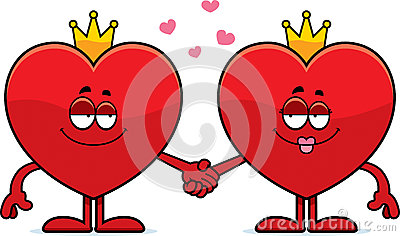 King and queen of hearts clipart image library library Cartoon King And Queen Of Hearts Stock Vector - Image: 47788251 image library library