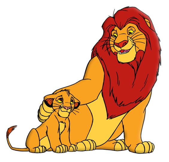King clipart png image free download King Lion and Simba PNG Picture | ClipArt | Pinterest | Lion, King ... image free download