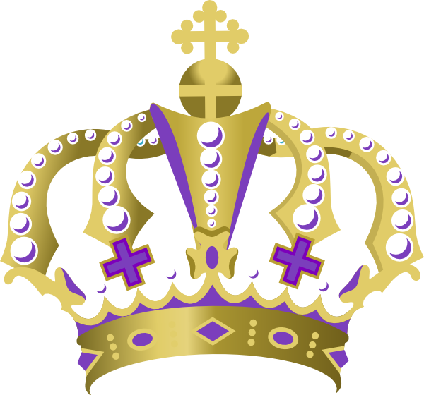 Crown royal clipart clip black and white library Purple King Crown Clip Art at Clker.com - vector clip art online ... clip black and white library