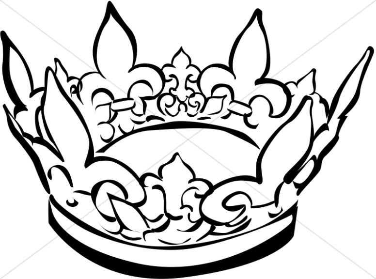 King crown clip art black and white image transparent White crown clipart - ClipartFest image transparent