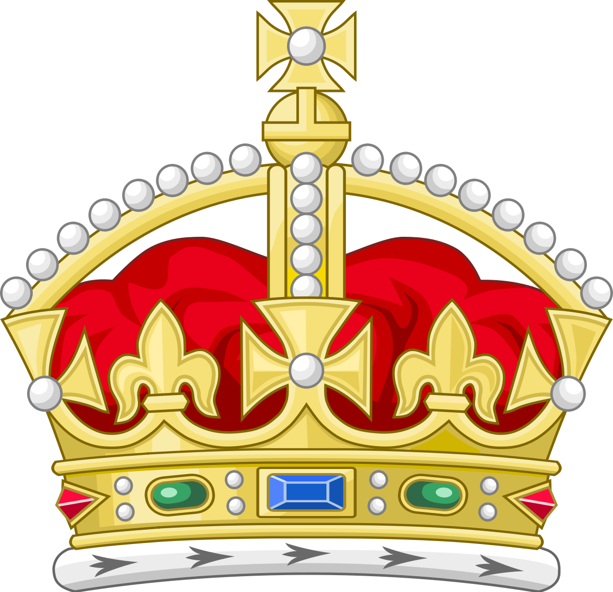 British crown clipart clipart transparent download Tudor Crown (heraldry) - Wikipedia clipart transparent download