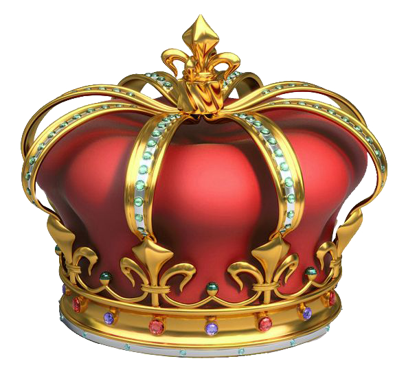 King crown clipart black and white 3d png Gold And Red Crown With Diamonds 3D Png Clip Art Clipart Images ... png