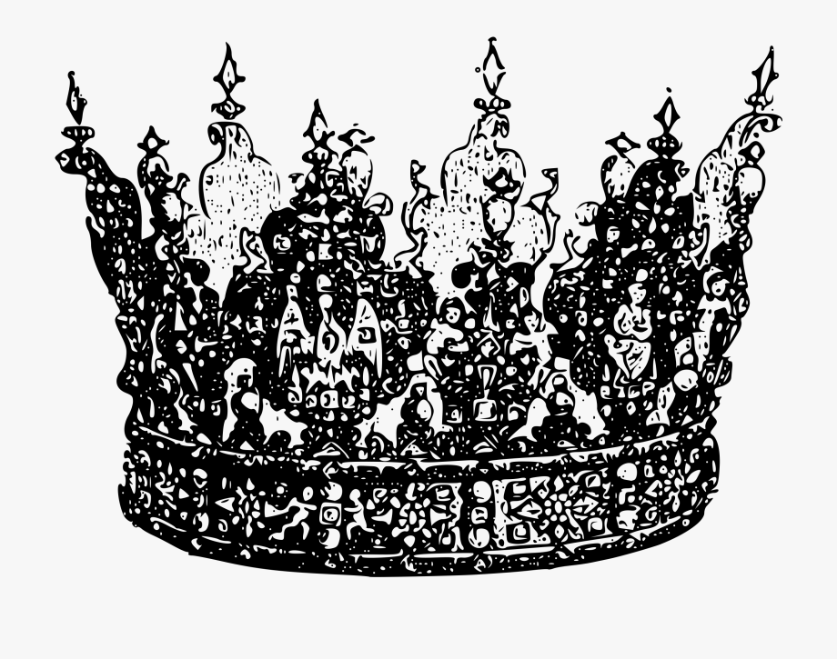 King crown clipart black and white 3d picture royalty free download Crowns Clipart Jeweled Crown - Crown Transparent Black And White ... picture royalty free download