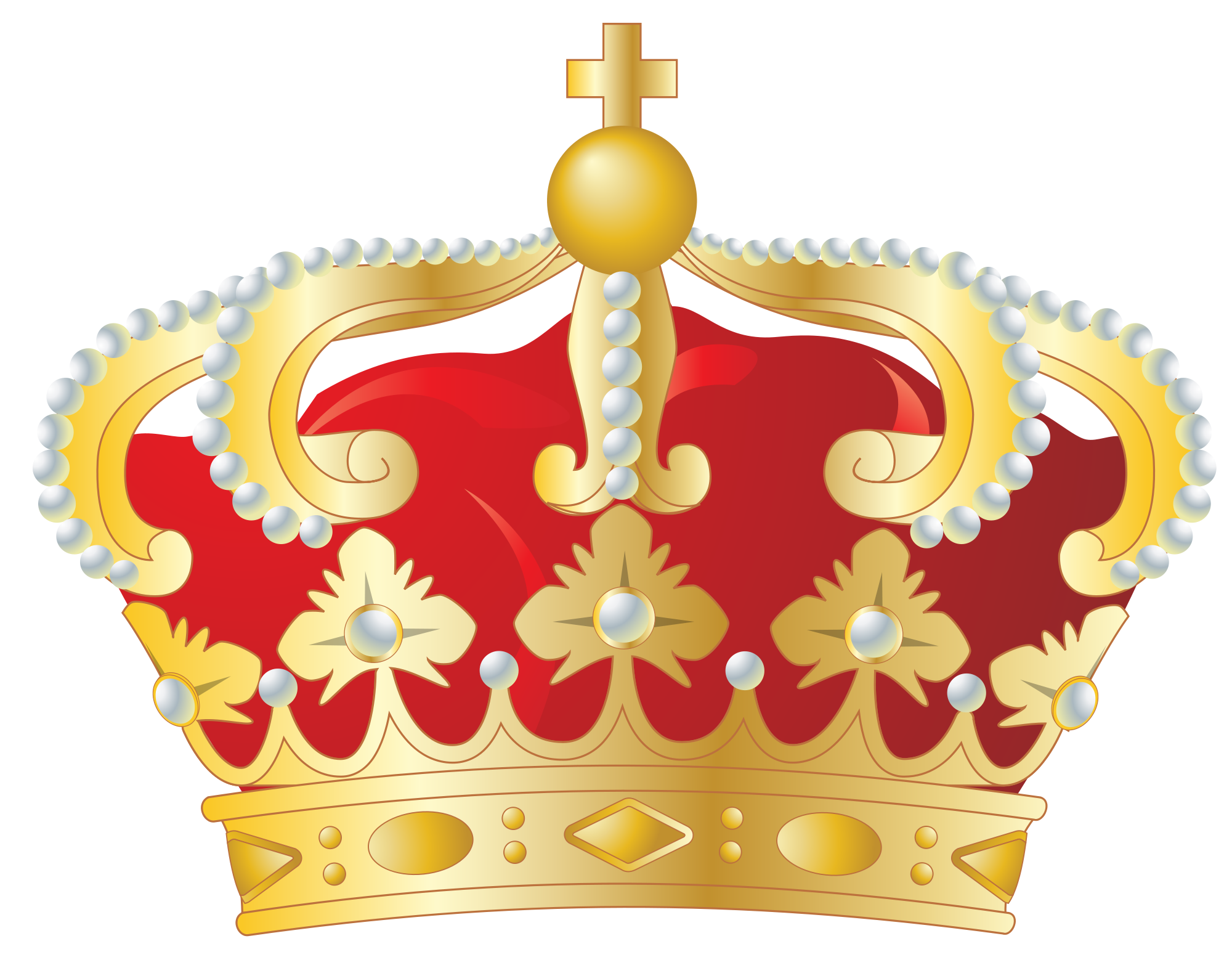 Crown with red jewels clipart free library Crown PNG images free download free library