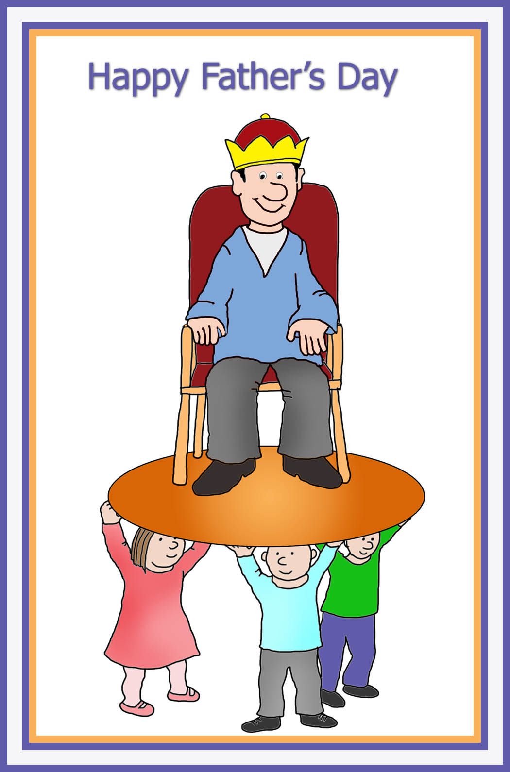 King for a day clipart clip stock 10 Free Father\'s Day Greeting Cards clip stock