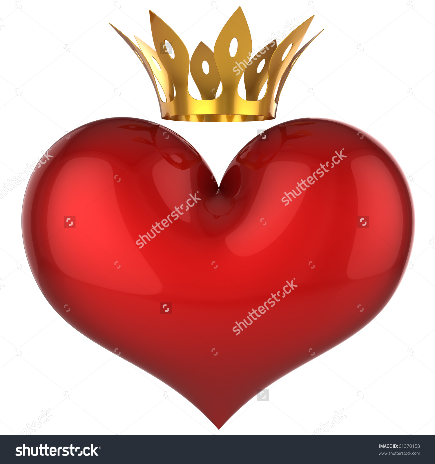 King for the day crown clipart clipart black and white download Heart King Queen Red Shiny Blank Stock Illustration 61370158 ... clipart black and white download