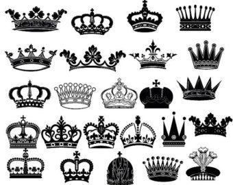 King for the day crown clipart svg royalty free library Crown Clipart Silhouette Designs VECTOR Files Digital Royal Crowns ... svg royalty free library