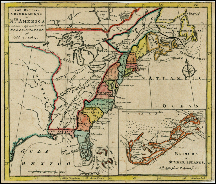 King george the 3rd issuing the proclomation of 1763 clipart black and white download Map of Royal Proclamation Territory, 1763 black and white download