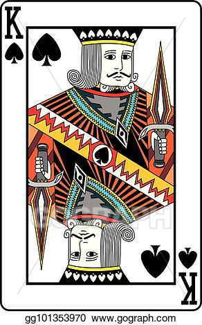 King of spades clipart picture black and white library Vector Art - King of spades. Clipart Drawing gg101353970 ... picture black and white library