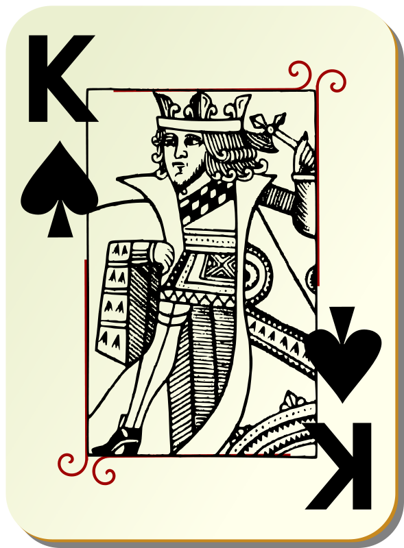 King of spades clipart image freeuse library Free Clipart: Guyenne deck: King of spades | mariotomo image freeuse library