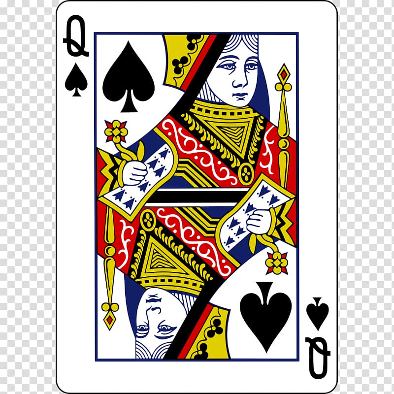 King of spades clipart clip black and white Queen of spades Playing card King, queen transparent ... clip black and white