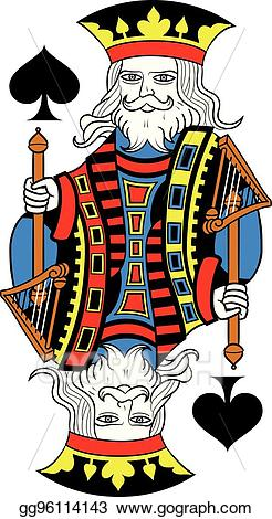 King of spades clipart library Vector Stock - King of spades isolated french version. eps ... library