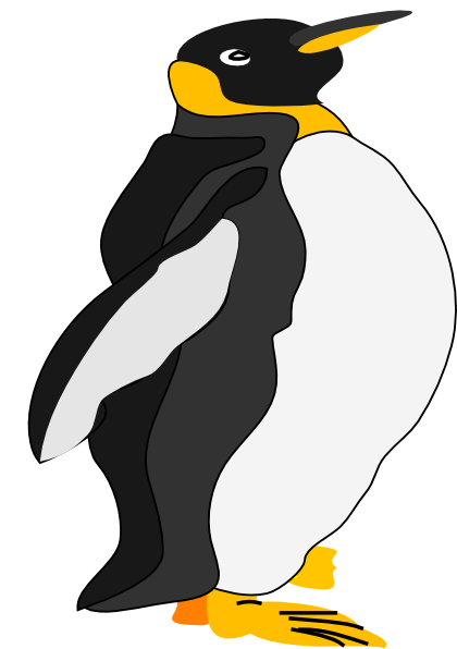 King penguin clipart clip freeuse library King Penguin Clip Art at Clker.com - vector clip art online, royalty ... clip freeuse library