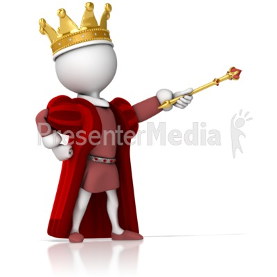 King power clipart clip free King Figure Standing Strong Pointing - Presentation Clipart - Great ... clip free
