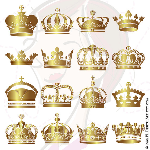 King s royal seal crown clipart clip freeuse Gold Crowns Digital Clip Art Crown Royal Clipart Scrapbook School ... clip freeuse