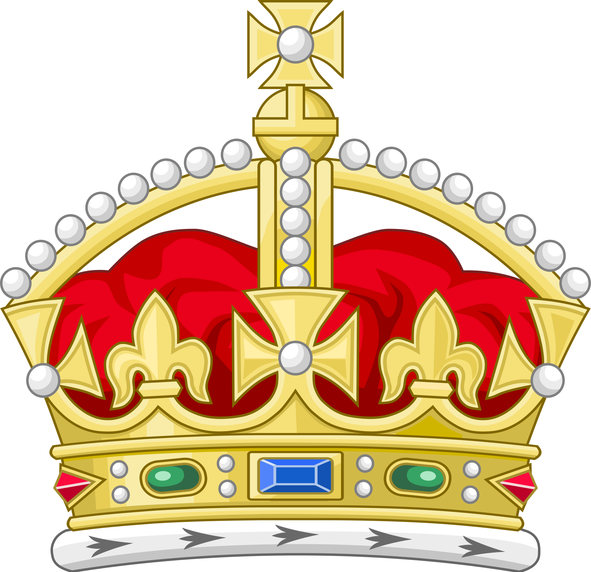 Royal queen crown clipart svg freeuse library Tudor Crown (heraldry) - Wikipedia svg freeuse library