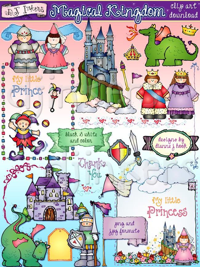 Kingdom clipart vector free library Magical fantasy kingdom clip art created by DJ Inkers - DJ Inkers vector free library