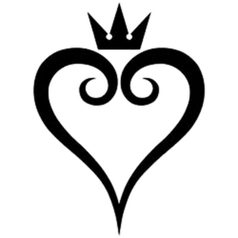 Kingdom hearts clipart hd clip art black and white library KHMOfficial - YouTube clip art black and white library