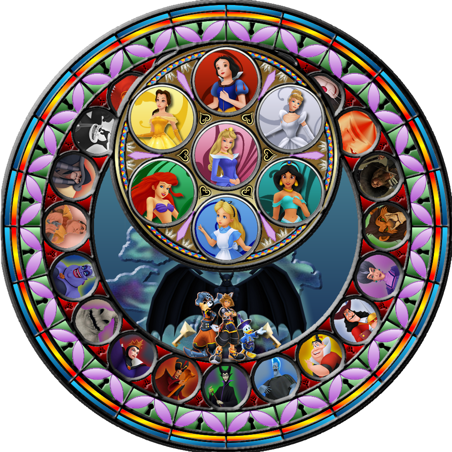 Kingdom hearts clipart stained glass banner free library Kingdom hearts clipart stained glass - ClipartFest banner free library