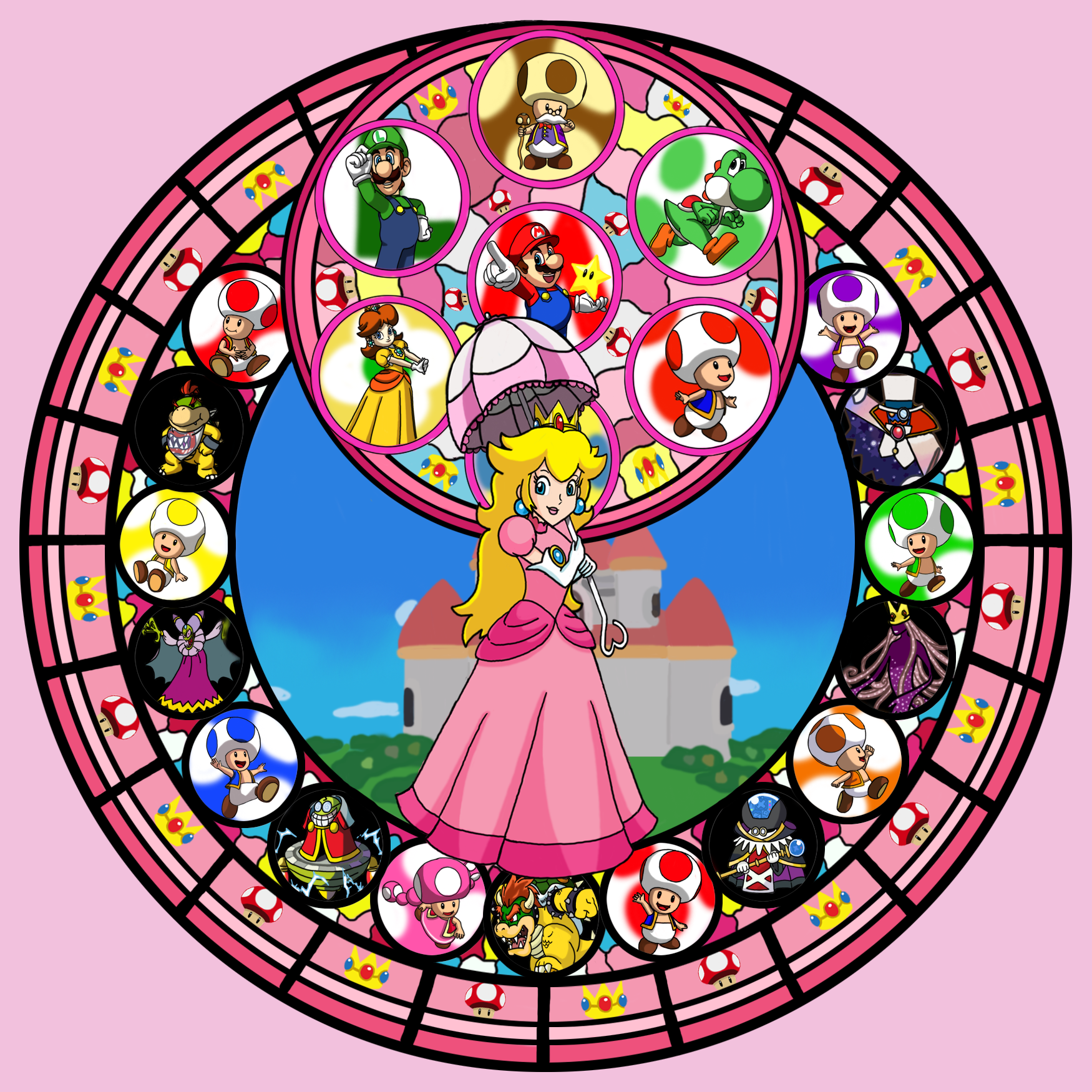 Kingdom hearts clipart stained glass graphic free library Kingdom Hearts Stained Glass by purpleorchid-8863 on DeviantArt graphic free library