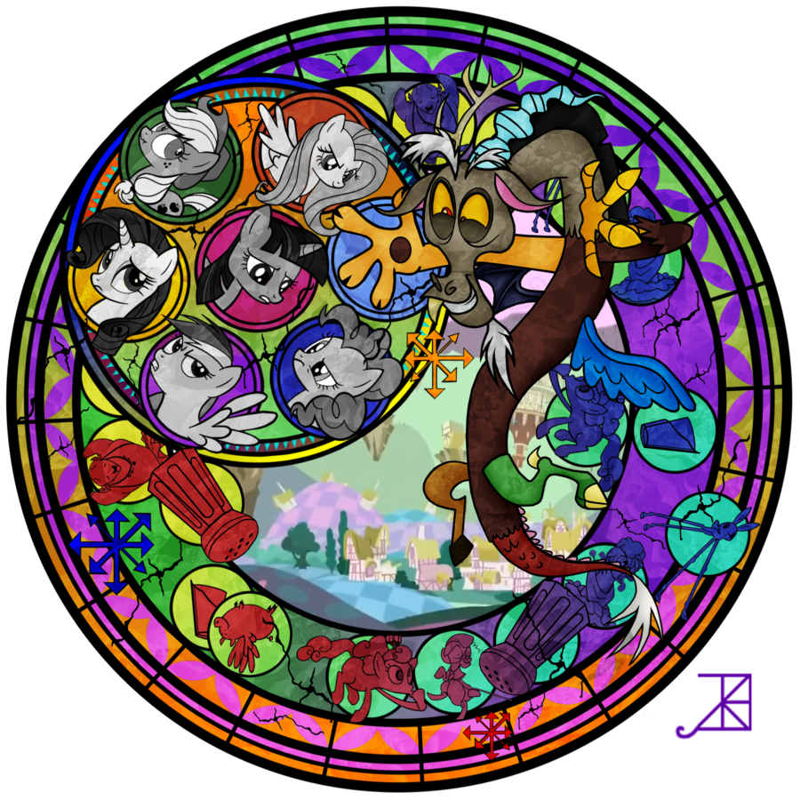 Kingdom hearts clipart stained glass image freeuse library Kingdom Hearts Stained Glass favourites by CoastGuardBrony1 on ... image freeuse library