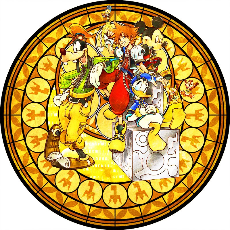 Kingdom hearts clipart stained glass image freeuse stock Square Enix Creates Stunning Stained Glass Clocks For KINGDOM ... image freeuse stock