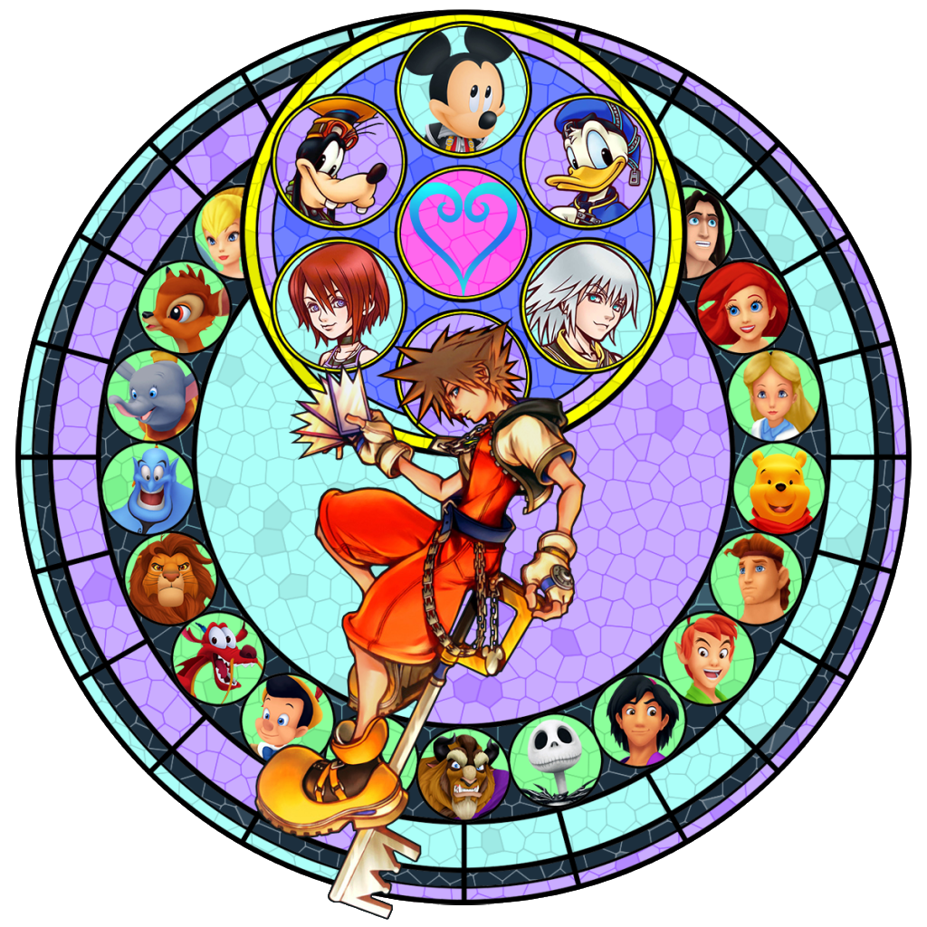Kingdom hearts clipart stained glass image free 17 Best images about Kingdom Hearts on Pinterest | Disney ... image free